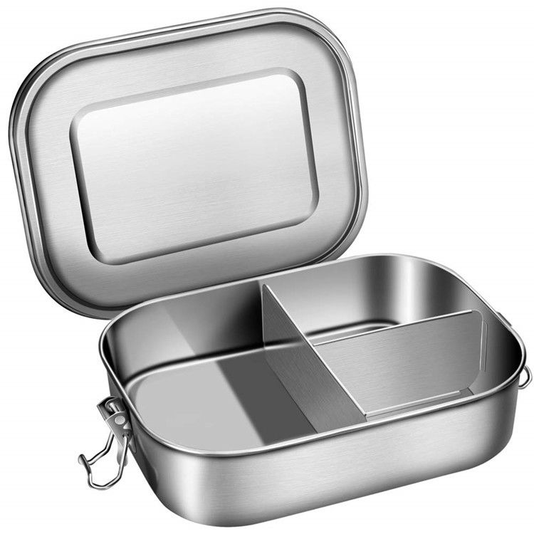 3 In1 Safety Stainless Steel Lunch Box Kids Adult  Stainless Steel Bento Box