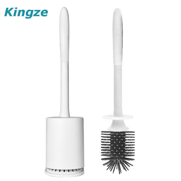 Handheld Silicone Toilet Brush And Holder Bathroom Accessories  Toilet Brush Holder